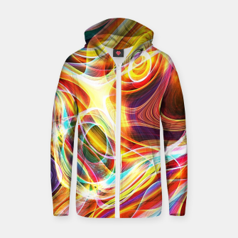 Thumbnail image of Abstract swirl Zip up hoodie, Live Heroes