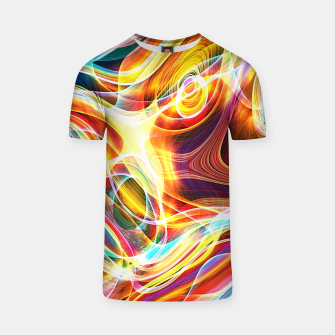 Thumbnail image of Abstract swirl T-shirt, Live Heroes