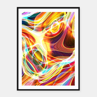 Thumbnail image of Abstract swirl Framed poster, Live Heroes