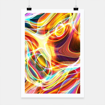 Thumbnail image of Abstract swirl Poster, Live Heroes