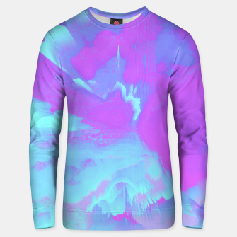 Thumbnail image of  Organized Chaos Glitched Fluid Art Unisex sweater, Live Heroes
