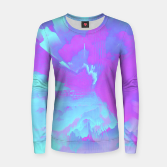 Thumbnail image of  Organized Chaos Glitched Fluid Art Women sweater, Live Heroes