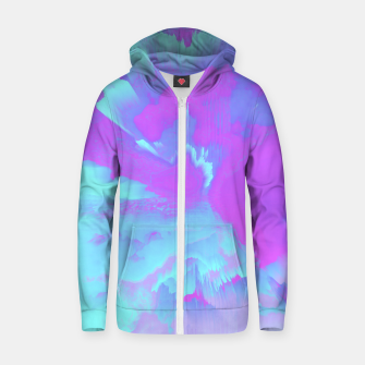 Thumbnail image of  Organized Chaos Glitched Fluid Art Zip up hoodie, Live Heroes