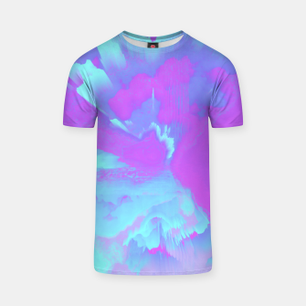 Thumbnail image of  Organized Chaos Glitched Fluid Art T-shirt, Live Heroes