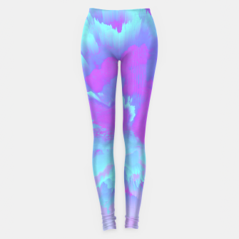 Thumbnail image of  Organized Chaos Glitched Fluid Art Leggings, Live Heroes
