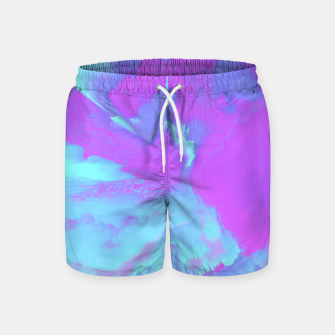 Thumbnail image of  Organized Chaos Glitched Fluid Art Swim Shorts, Live Heroes