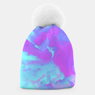 Thumbnail image of  Organized Chaos Glitched Fluid Art Beanie, Live Heroes