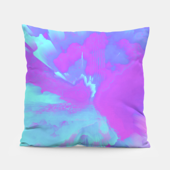 Thumbnail image of  Organized Chaos Glitched Fluid Art Pillow, Live Heroes