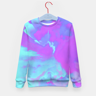 Thumbnail image of  Organized Chaos Glitched Fluid Art Kid's sweater, Live Heroes