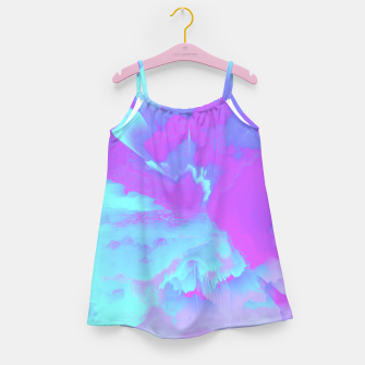 Thumbnail image of  Organized Chaos Glitched Fluid Art Girl's dress, Live Heroes