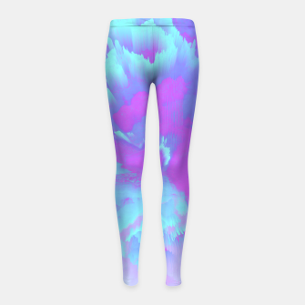 Thumbnail image of  Organized Chaos Glitched Fluid Art Girl's leggings, Live Heroes