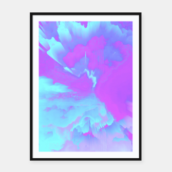 Thumbnail image of  Organized Chaos Glitched Fluid Art Framed poster, Live Heroes