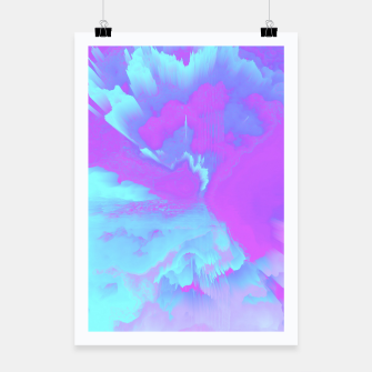 Thumbnail image of  Organized Chaos Glitched Fluid Art Poster, Live Heroes