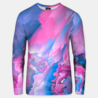 Thumbnail image of Dangerous Safety Glitched Fluid Art Unisex sweater, Live Heroes