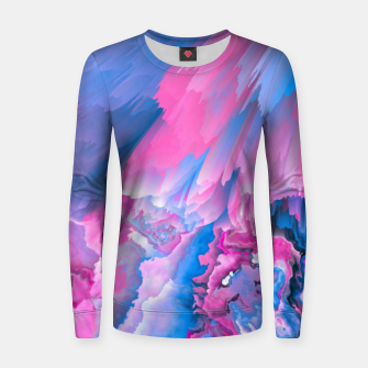Thumbnail image of Dangerous Safety Glitched Fluid Art Women sweater, Live Heroes
