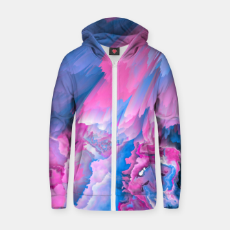 Thumbnail image of Dangerous Safety Glitched Fluid Art Zip up hoodie, Live Heroes