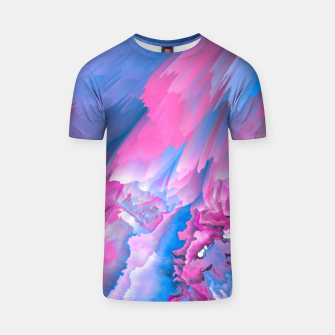 Thumbnail image of Dangerous Safety Glitched Fluid Art T-shirt, Live Heroes