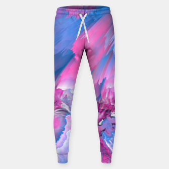 Thumbnail image of Dangerous Safety Glitched Fluid Art Sweatpants, Live Heroes