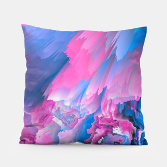 Thumbnail image of Dangerous Safety Glitched Fluid Art Pillow, Live Heroes