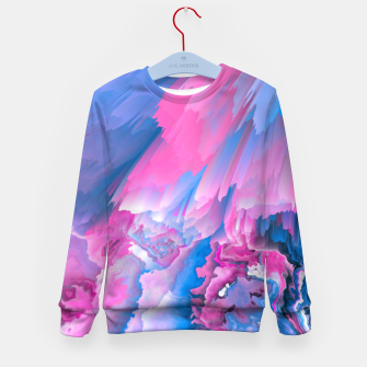 Thumbnail image of Dangerous Safety Glitched Fluid Art Kid's sweater, Live Heroes