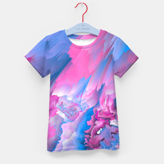 Thumbnail image of Dangerous Safety Glitched Fluid Art Kid's t-shirt, Live Heroes