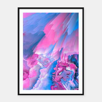 Thumbnail image of Dangerous Safety Glitched Fluid Art Framed poster, Live Heroes