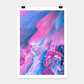 Thumbnail image of Dangerous Safety Glitched Fluid Art Poster, Live Heroes