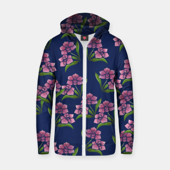 Thumbnail image of Orchids Zip up hoodie, Live Heroes