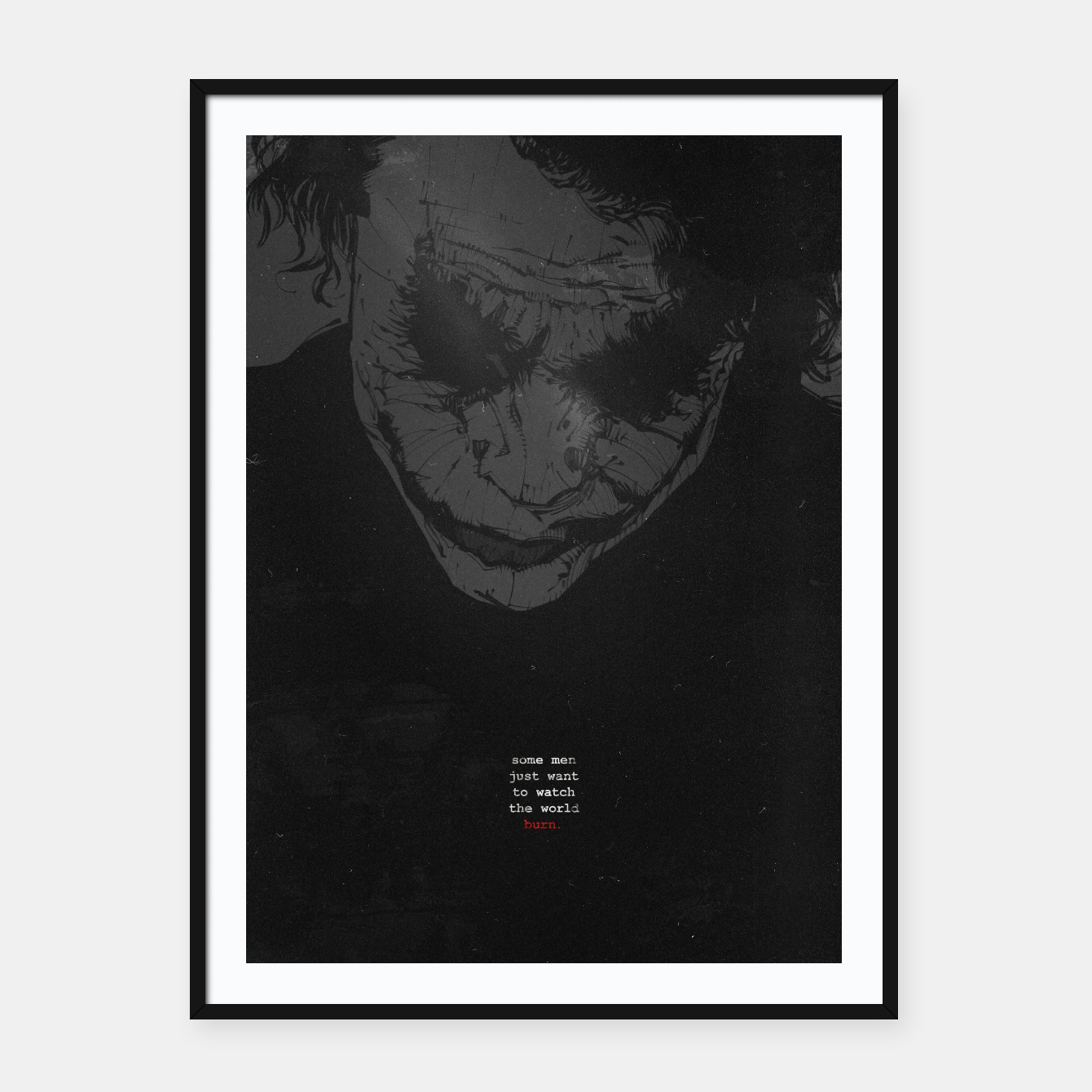 Image of Joker Framed poster - Live Heroes