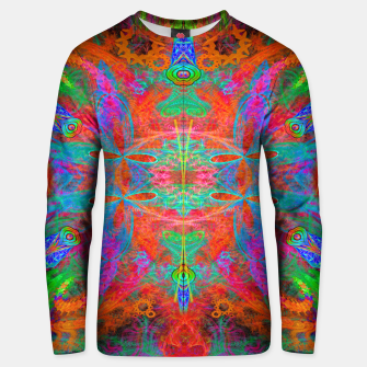 Thumbnail image of Heaven's Tropical Center (symmetrical, psychedelic) Unisex sweater, Live Heroes