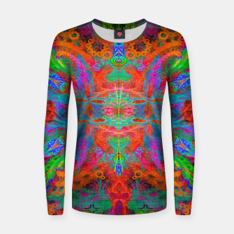 Thumbnail image of Heaven's Tropical Center (symmetrical, psychedelic) Women sweater, Live Heroes