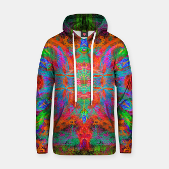 Thumbnail image of Heaven's Tropical Center (symmetrical, psychedelic) Hoodie, Live Heroes