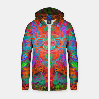 Thumbnail image of Heaven's Tropical Center (symmetrical, psychedelic) Zip up hoodie, Live Heroes