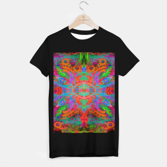 Thumbnail image of Heaven's Tropical Center (symmetrical, psychedelic) T-shirt regular, Live Heroes