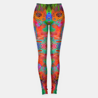 Thumbnail image of Heaven's Tropical Center (symmetrical, psychedelic) Leggings, Live Heroes