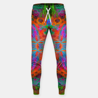 Thumbnail image of Heaven's Tropical Center (symmetrical, psychedelic) Sweatpants, Live Heroes