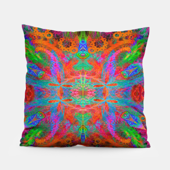Thumbnail image of Heaven's Tropical Center (symmetrical, psychedelic) Pillow, Live Heroes