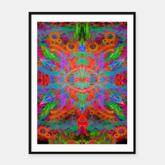 Thumbnail image of Heaven's Tropical Center (symmetrical, psychedelic) Framed poster, Live Heroes