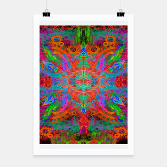 Thumbnail image of Heaven's Tropical Center (symmetrical, psychedelic) Poster, Live Heroes