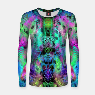 Miniaturka Leaves Fall By Moon Glow (abstract, fantasy, psychedelic) Women sweater, Live Heroes