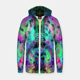 Miniaturka Leaves Fall By Moon Glow (abstract, fantasy, psychedelic) Zip up hoodie, Live Heroes