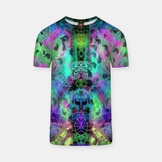 Miniaturka Leaves Fall By Moon Glow (abstract, fantasy, psychedelic) T-shirt, Live Heroes