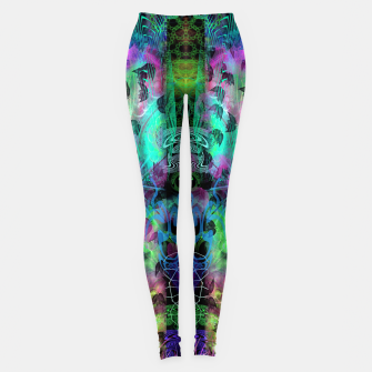 Miniaturka Leaves Fall By Moon Glow (abstract, fantasy, psychedelic) Leggings, Live Heroes