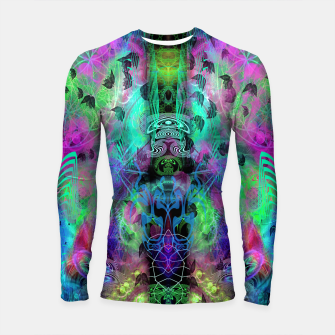 Miniaturka Leaves Fall By Moon Glow (abstract, fantasy, psychedelic) Longsleeve rashguard , Live Heroes