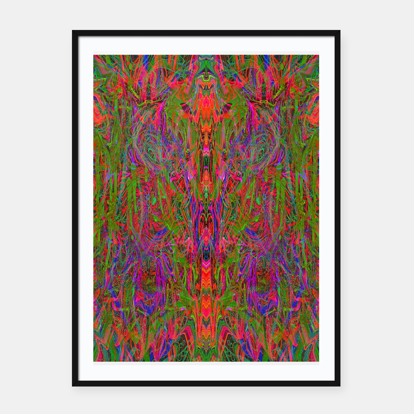 Image of Drenched In Juice (slime, psychedelic, abstract) Framed poster - Live Heroes