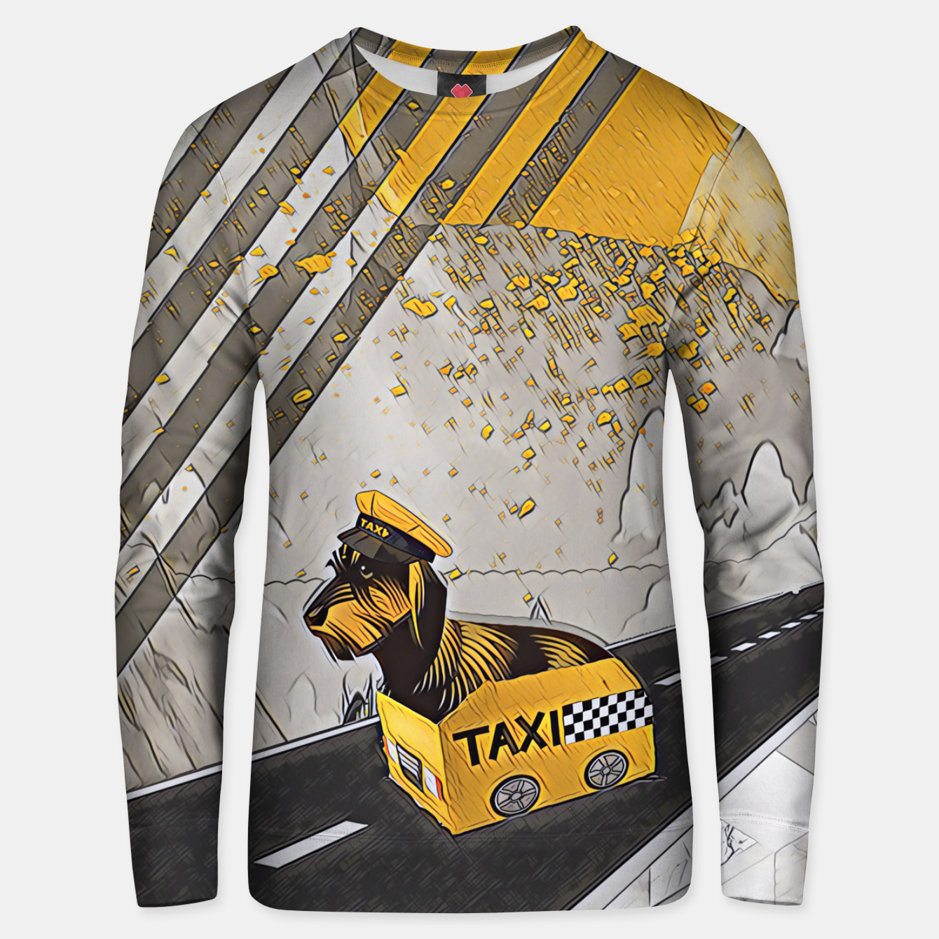 Image of Yellow taxi Unisex sweater - Live Heroes