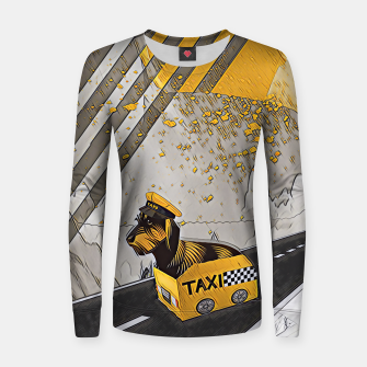Miniatur Yellow taxi Women sweater, Live Heroes