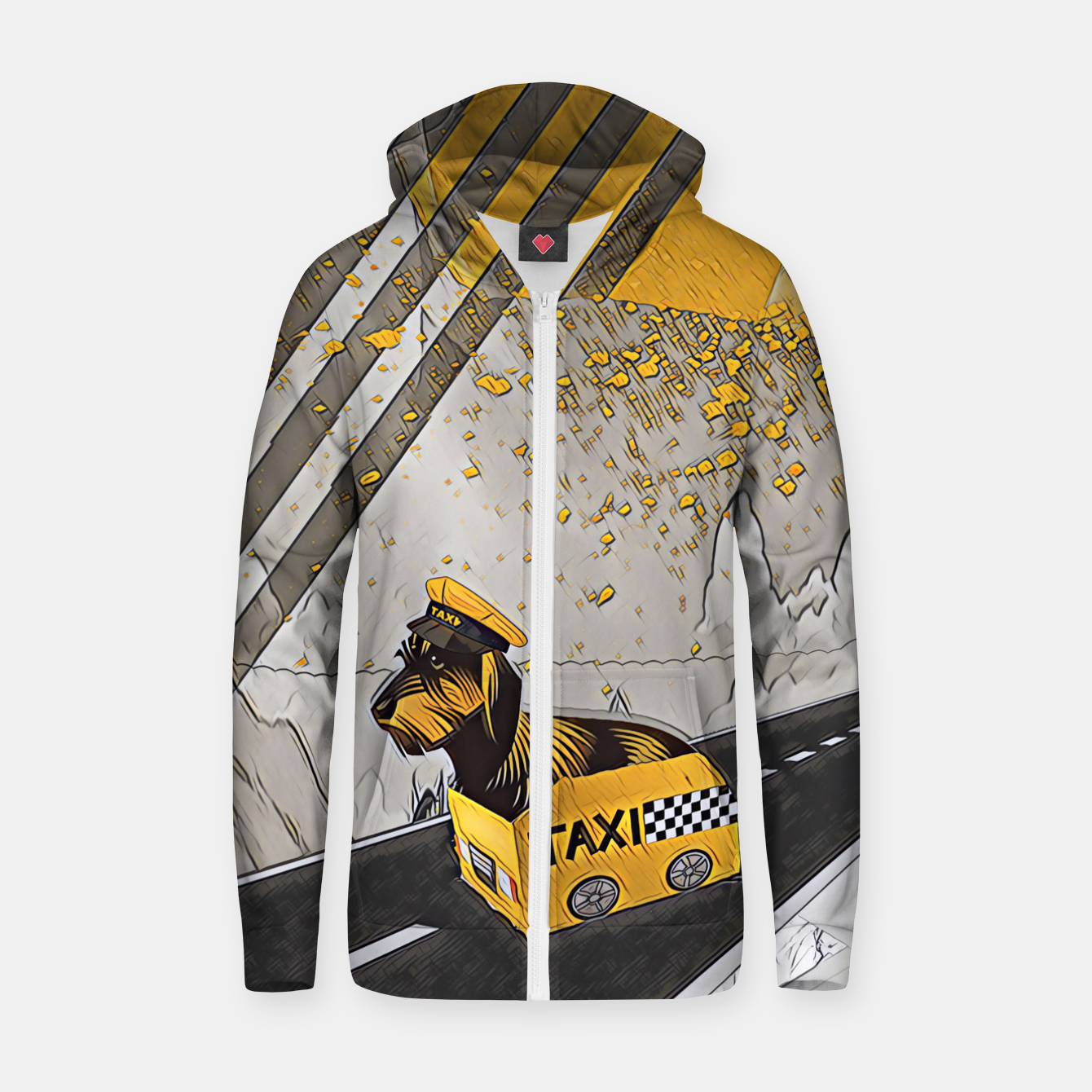 Image of Yellow taxi Zip up hoodie - Live Heroes