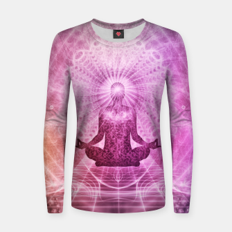 Miniatur Meditation Women sweater, Live Heroes