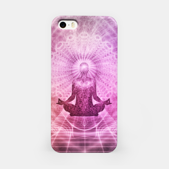 Miniatur Meditation iPhone Case, Live Heroes